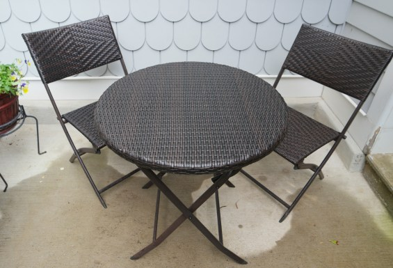 Bistro table from Wayfair.com