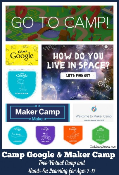 Camp Google & Maker Camp Provide Free Virtual Camp and Hands-On Learning for Ages 7-17. Details on TechSavvyMama.com