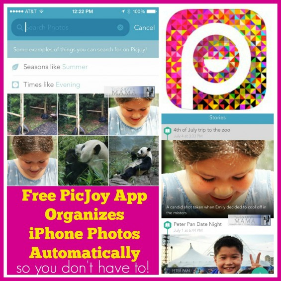 Free PicJoy App Organizes Your iPhone Photos and Provides Quick & Easy Way to Capture Details of Favorite Photo Moments. Details on TechSavvyMama.com