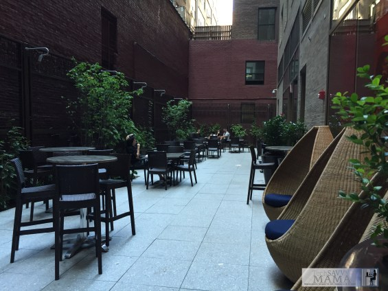 Traveling to NYC? Why Your Family Should Stay at Homewood Suites New York/Midtown Manhattan Times Square - gorgeous outdoor spaces in the middle of the city. Full review on TechSavvyMama.com