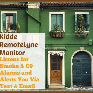 Kiddie RemoteLync Listens for Smoke & Carbon Monoxide Alarms, Alerts You Via Text & Email. Details on TechSavvyMama.com