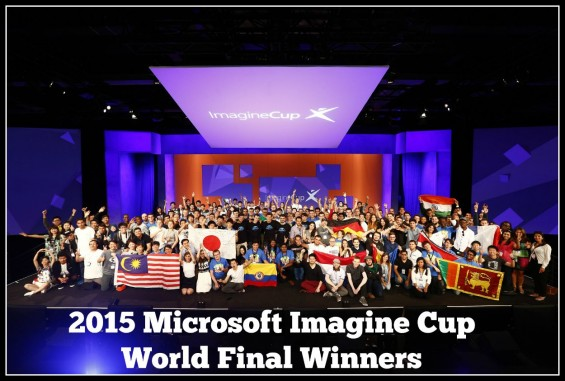 2015 Microsoft Imagine Cup World Final Winners and competition details on TechSavvyMama.com