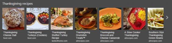 Bing Recipe Carousel