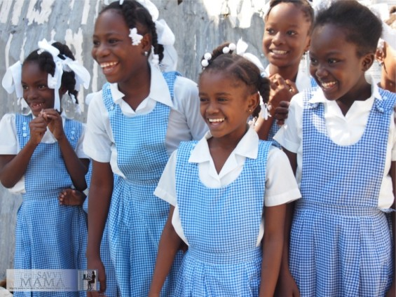 Girls in Gingham Jacmel, Haiti ©TechSavvyMama.com 2012