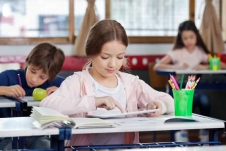 School- Kids at desks