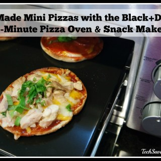 Kid-Made Mini Pizzas with the Black+Decker 5-Minute Pizza Oven & Snack Maker