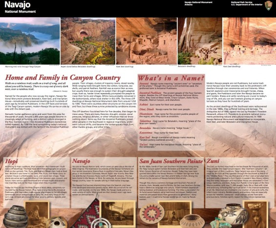 Navajo National Monument Brochure from the National Park Service