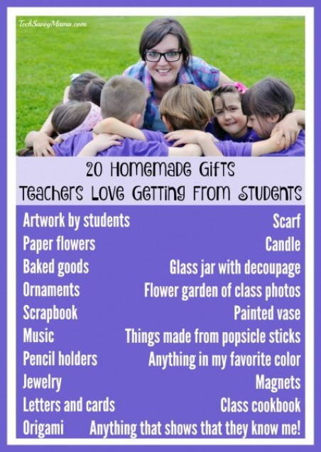20 Homemade Gifts Teachers Love Getting from Students on TechSavvyMama.com