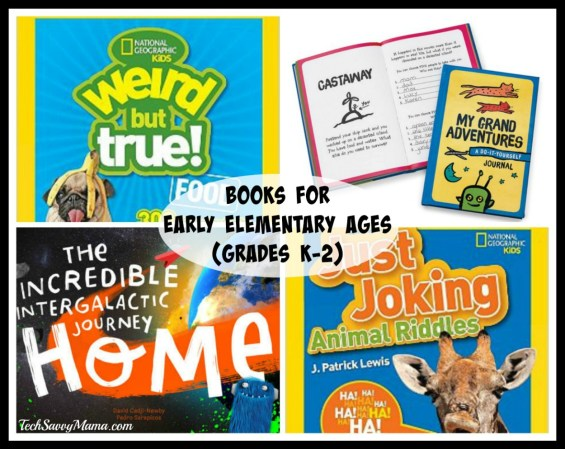 Books for Early Elementary Ages (5-8 or grades K-2) on TechSavvyMama.com's Best Gifts for Preschoolers 2015