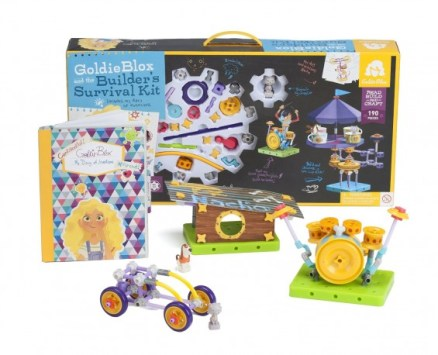 Goldie Blox and the Builder's Survival Kit featured on TechSavvyMama.com's 2015 Gift Guide: Best STEM Gifts for All Ages