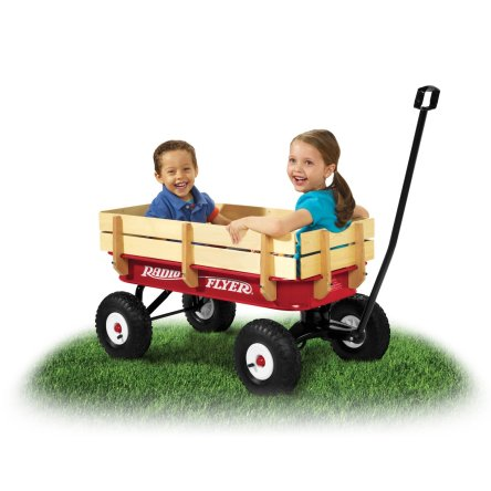 Radio Flyer All Terrain Steel and Wood Wagon featured on TechSavvyMama.com's Best Gifts for Toddlers 2015