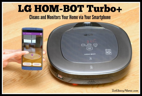 LG HOM-BOT Turbo+ Cleans and Monitors Your Home via Your Smartphone