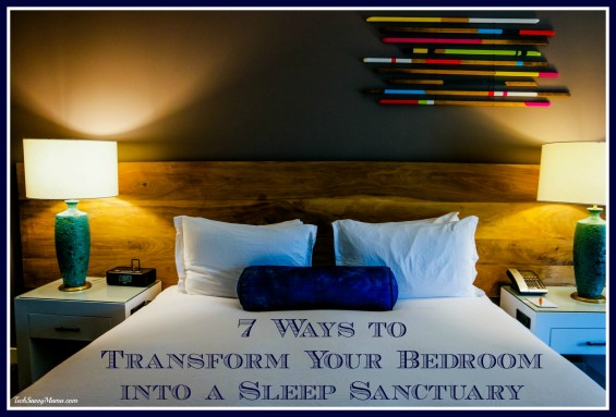 7 Ways to Transform Your Bedroom into a Sleep Sanctuary. Tips and products on TechSavvyMama.com