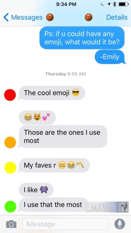 Emojis that Tweens Love on TechSavvyMama's How Smartphones Empower Girls but Emojis Hold Them Back