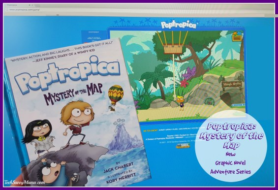 Poptropica Mystery of the Map New Graphic Novel Adventure Stories Series Review & Giveaway on TechSavvyMama.com