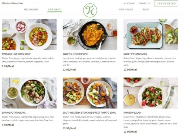 Terra's Kitchen Meal Options for your Meal Kit Delivery. Details on TechSavvyMama.com