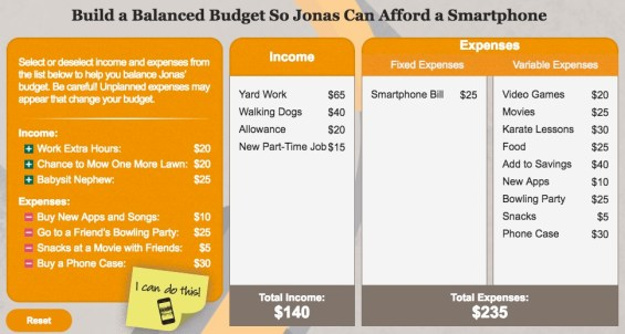 Learning how to create a balanced budget through free interactive lessons available through Earn Your Digital Future Lab. More details on TechSavvyMama.com