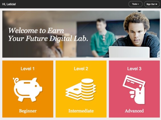 Using the Free Earn Your Digital Future site to teach financial literacy to your kids. Details on TechSavvyMama.com