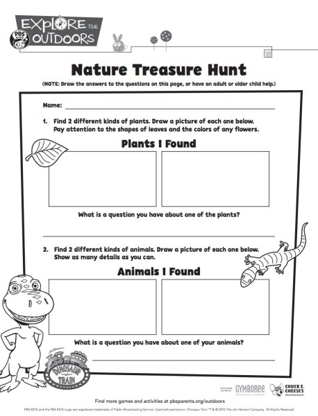 Nature Treasure Hunt from PBS Kids and more unplugged Earth Day fun on TechSavvyMama.com