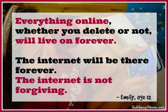 The Internet is Not Forgiving-TechSavvyMama.com