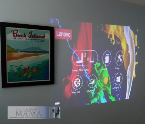 Lenovo's Pocket Projector: Portable Video Viewing Anywhere: Menu system for display. Details on TechSavvyMama.com