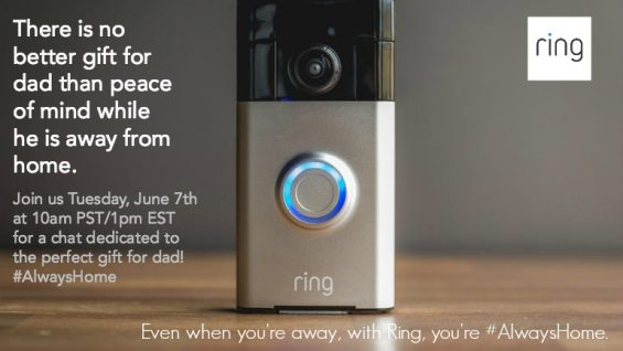 Ring #AlwaysHome Twitter Party 6/7 at 9 pm ET