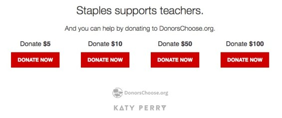 Donate to DonorsChoose.org when you shop at Staples. Details on TechSavvyMama.com