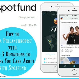 How You Can Be a Philanthropist with $1-3 Donations to Causes You Care About Using Spotfund. Details on TechSavvyMama.com