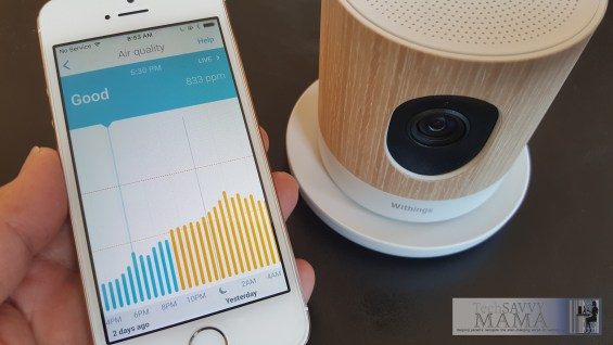 How to Monitor Air Quality with Withings Home on TechSavvyMama.com