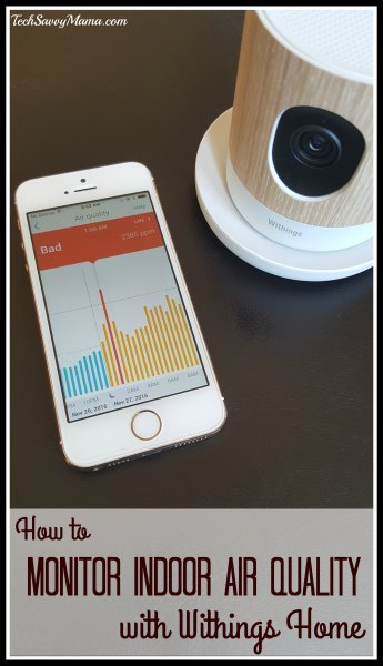How to Monitor Indoor Air Quality with Withings Home on TechSavvyMama.com