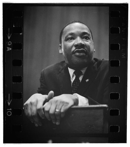 Martin Luther King press conference, Marion S. Trikosko, photographer courtesy of Library of Congress