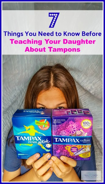 teaching your daughter about tampons