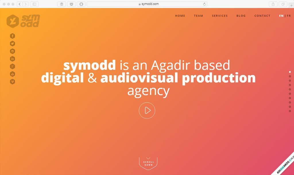 symodd Example gradient web design