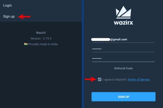 SignUp-To-WazirX