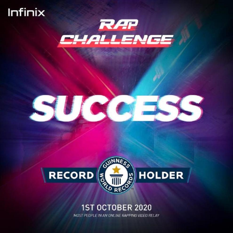 Pakistani Artists Take Part in Infinix's Rap Video Relay, Set GUINNESS WORLD RECORD