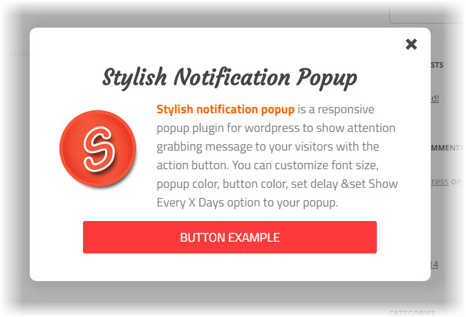 stylish notification popup