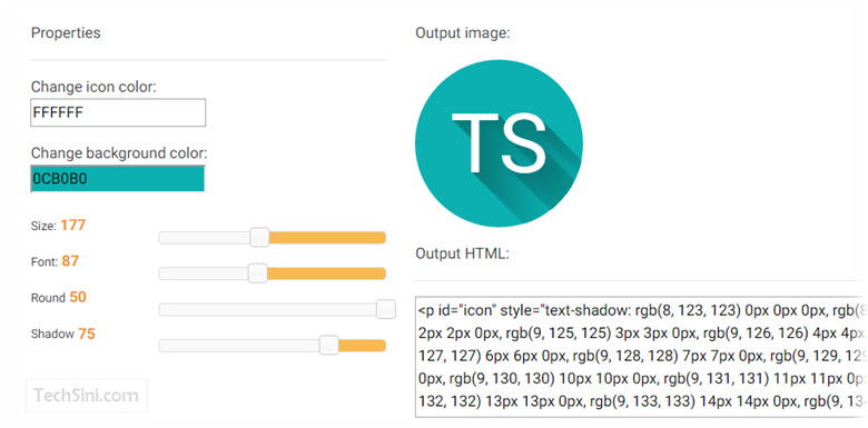 CSS Long Shadow Generator by MDBootstrap
