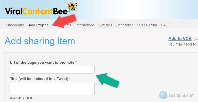 Add Content to Viral Content Bee'