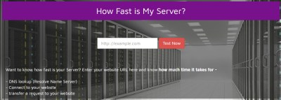 How fast is my server