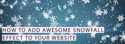 Add Snowfall Effect to Website