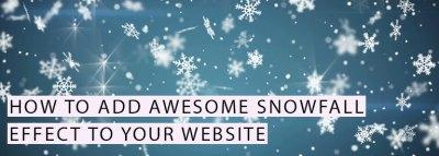 Add Snowfall Effect to Website