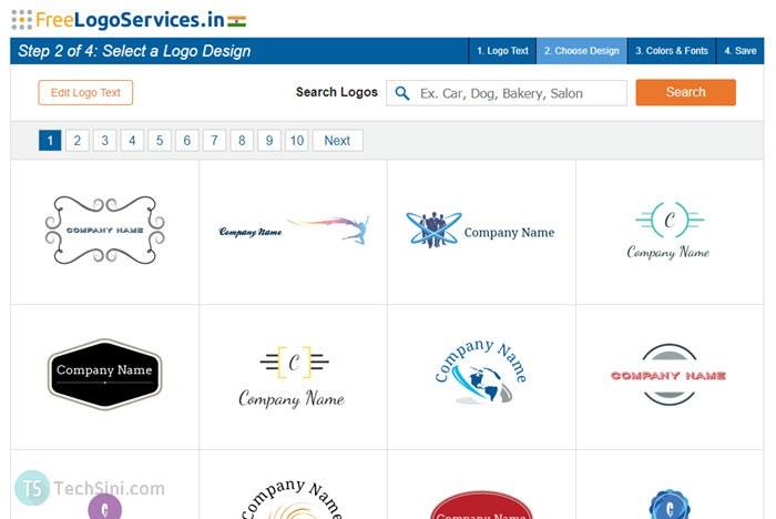 Free Logo Services screenshot