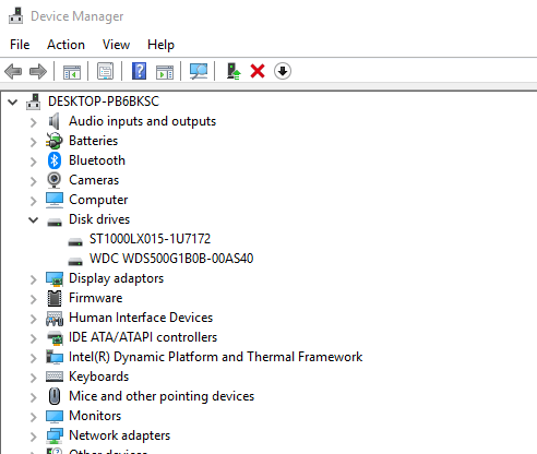 check-hard-disk-health-windows-10-device-manager