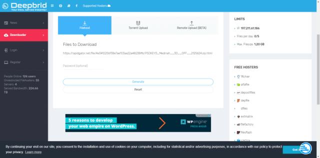 Deepbrid– Best Free Premium Link Generator