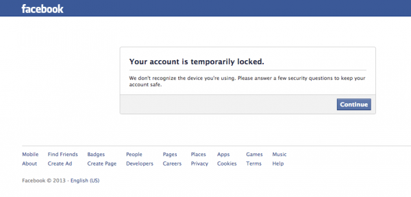 causes of facebook account temporarily locked