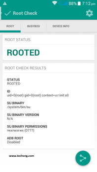 checking android root status