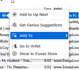 add songs from itunes to iPhone