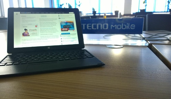 Tecno Win-Pad 10 used as laptop