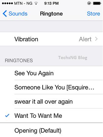 tone settings on iPhone
