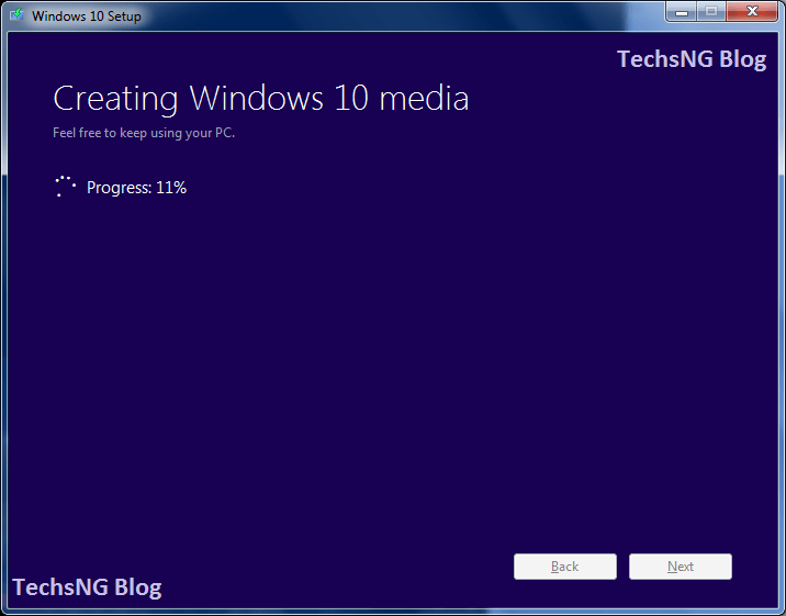 creating windows 10 media on PC